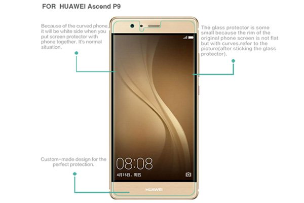 【ネコポス送料無料】Huawei P9 強化ガラスフィルム ナノコーティング 硬度9H  [7]