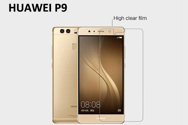 【ネコポス送料無料】Huawei P9 液晶保護フィルムセット クリスタルクリアタイプ [1]