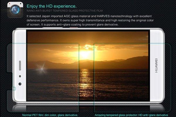 【ネコポス送料無料】Huawei P9 Plus 強化ガラスフィルム ナノコーティング 硬度9H  [2]