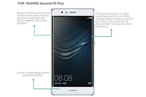 【ネコポス送料無料】Huawei P9 Plus 強化ガラスフィルム ナノコーティング 硬度9H  [7]