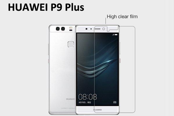 【ネコポス送料無料】Huawei P9 Plus 液晶保護フィルムセット クリスタルクリアタイプ
