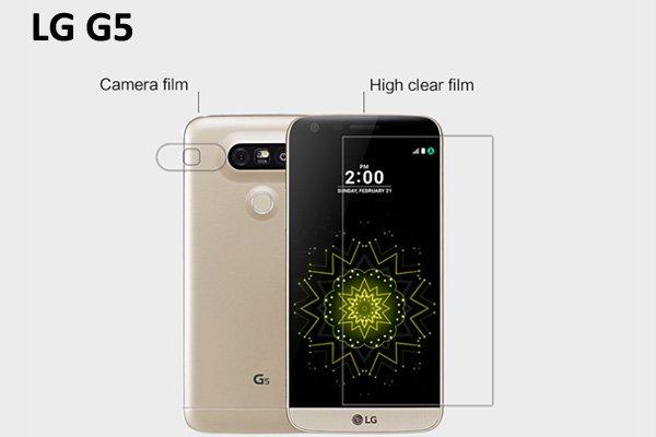 【ネコポス送料無料】LG G5 液晶保護フィルムセット クリスタルクリアタイプ  [1]