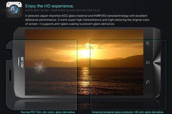 【ネコポス送料無料】Zenfone Go (ZB551KL) 強化ガラスフィルム ナノコーティング 硬度9H  [3]