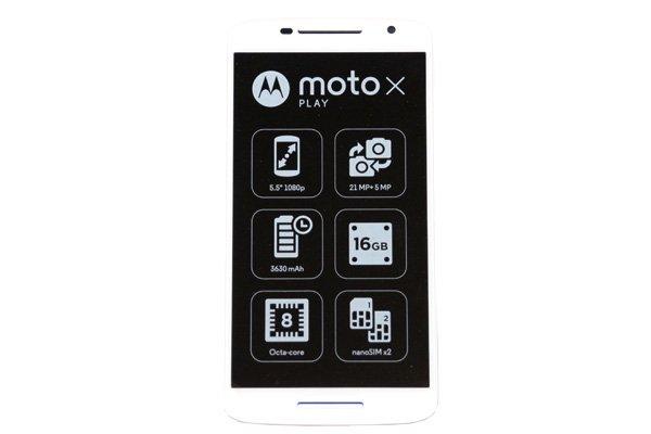 Motorola Moto X Play (XT1562) フロントパネルASSY ホワイト [1]