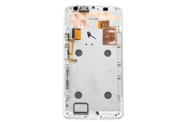 Motorola Moto X Play (XT1562) フロントパネルASSY ホワイト [2]
