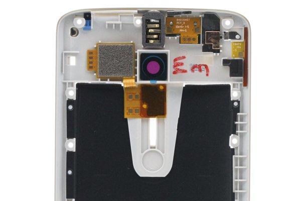 【ネコポス送料無料】Motorola Moto X Play (XT1562) ミドルケースASSY ホワイト用 [3]