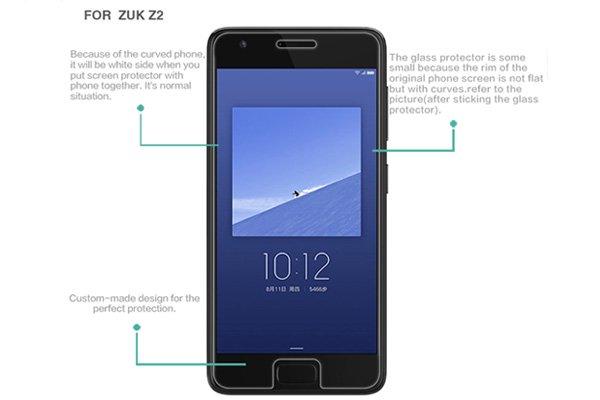 【ネコポス送料無料】ZUK Z2 強化ガラスフィルム ナノコーティング 硬度9H  [7]