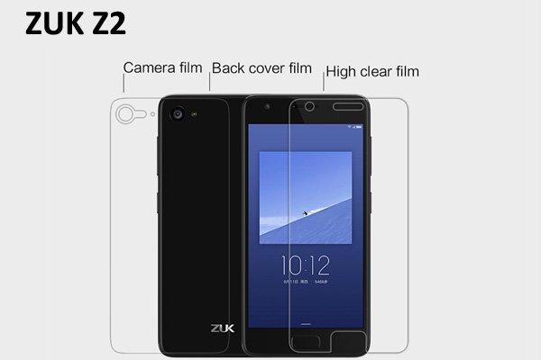 【ネコポス送料無料】ZUK Z2 液晶保護フィルムセット クリスタルクリアタイプ [1]