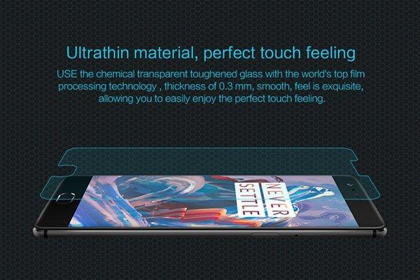 【ネコポス送料無料】OnePlus 3 強化ガラスフィルム ナノコーティング 硬度9H [2]