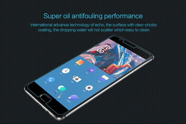 【ネコポス送料無料】OnePlus 3 強化ガラスフィルム ナノコーティング 硬度9H [5]