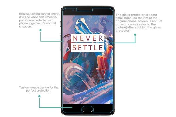 【ネコポス送料無料】OnePlus 3 強化ガラスフィルム ナノコーティング 硬度9H [7]