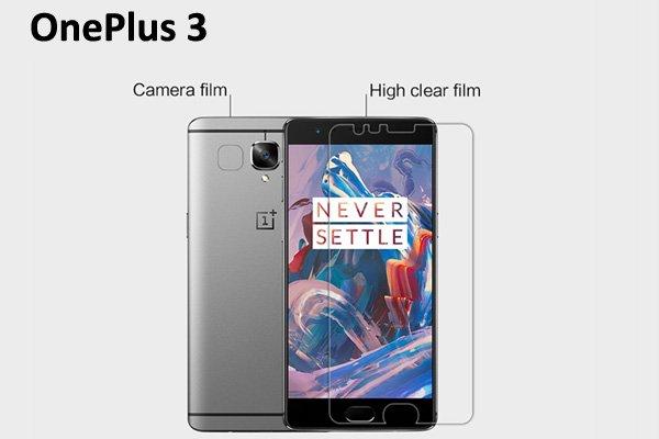 【ネコポス送料無料】OnePlus 3 液晶保護フィルムセット クリスタルクリアタイプ [1]