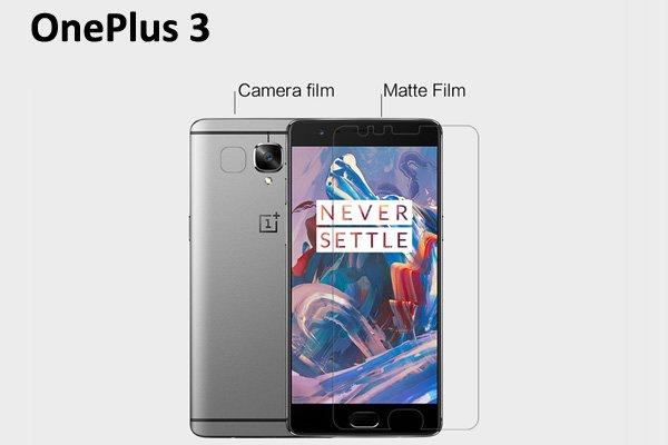 【ネコポス送料無料】OnePlus 3 液晶保護フィルムセット アンチグレアタイプ [1]