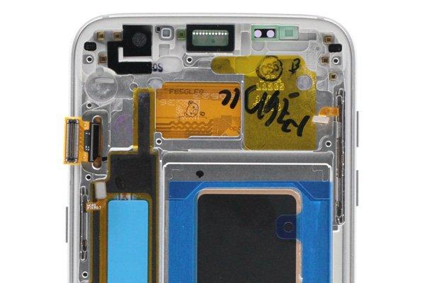 Galaxy S7 Edge (SM-G935F) フロントパネルASSY シルバー [3]