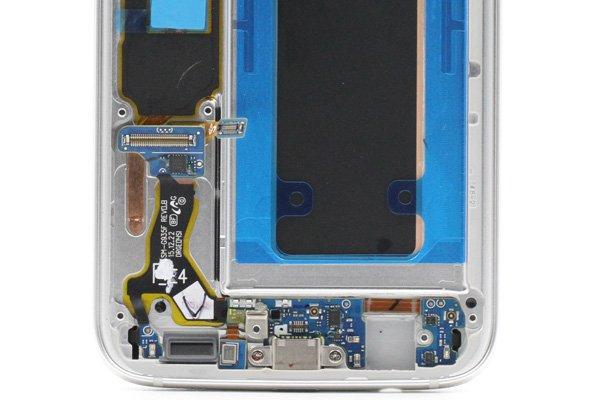 Galaxy S7 Edge (SM-G935F) フロントパネルASSY シルバー [4]