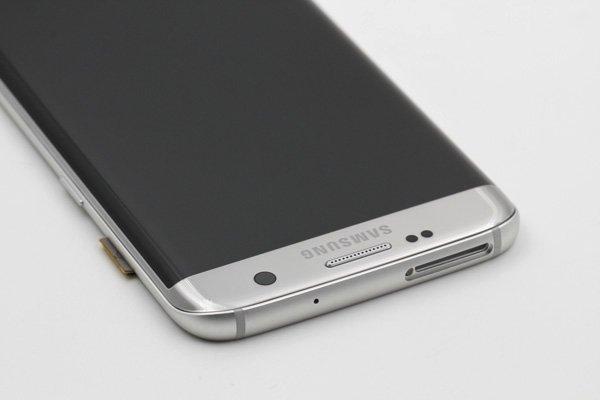 Galaxy S7 Edge (SM-G935F) フロントパネルASSY シルバー [7]