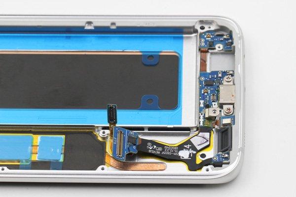 Galaxy S7 Edge (SM-G935F) フロントパネルASSY シルバー [9]