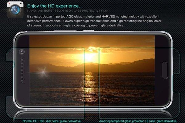 【ネコポス送料無料】HTC 10 強化ガラスフィルム ナノコーティング 硬度9H  [2]