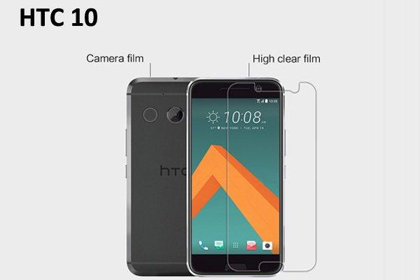 【ネコポス送料無料】HTC 10 液晶保護フィルムセット クリスタルクリアタイプ  [1]