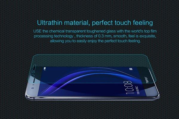 【ネコポス送料無料】Huawei Honor 8 強化ガラスフィルム ナノコーティング 硬度9H  [2]