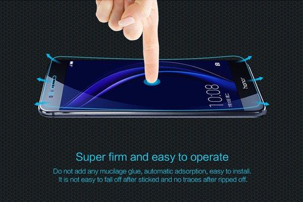 【ネコポス送料無料】Huawei Honor 8 強化ガラスフィルム ナノコーティング 硬度9H  [5]