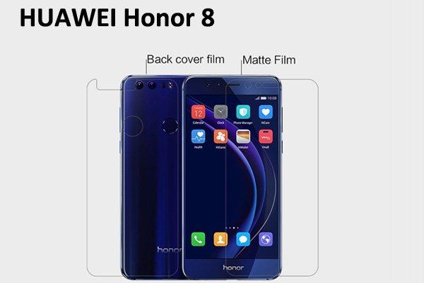 【ネコポス送料無料】Huawei Honor 8 液晶保護フィルムセット アンチグレアタイプ  [1]