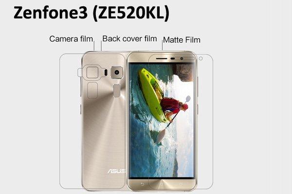 【ネコポス送料無料】Zenfone3 (ZE520KL) 液晶保護フィルムセット アンチグレアタイプ [1]