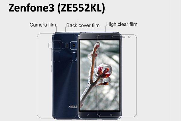 【ネコポス送料無料】Zenfone3 (ZE552KL) 液晶保護フィルムセット クリスタルクリアタイプ [1]