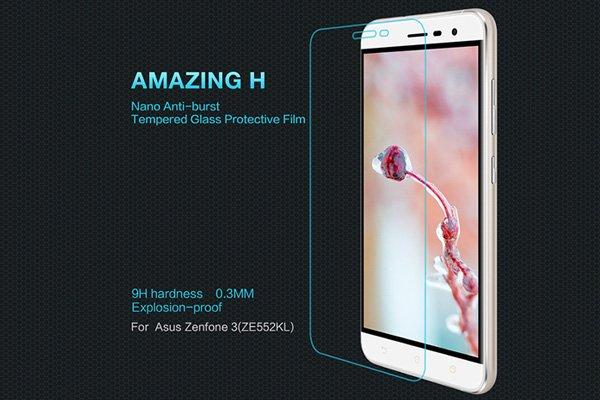 【ネコポス送料無料】Zenfone3 (ZE552KL) 強化ガラスフィルム ナノコーティング 硬度9H  [1]