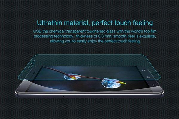 【ネコポス送料無料】Zenfone3 (ZE552KL) 強化ガラスフィルム ナノコーティング 硬度9H  [2]