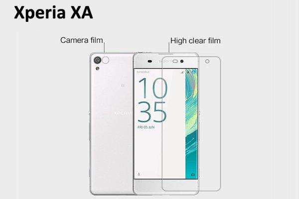 【ネコポス送料無料】Xperia XA 液晶保護フィルムセット クリスタルクリアタイプ  [1]