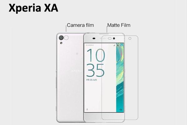 【ネコポス送料無料】Xperia XA 液晶保護フィルムセット アンチグレアタイプ  [1]