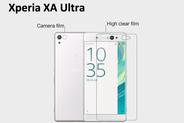 【ネコポス送料無料】Xperia XA Ultra 液晶保護フィルムセット クリスタルクリアタイプ  [1]