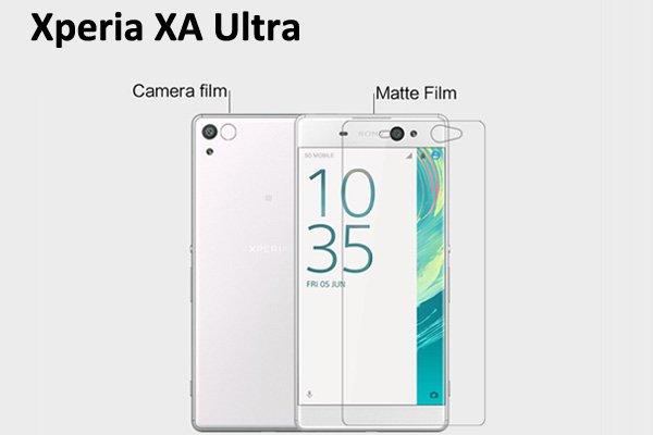 【ネコポス送料無料】Xperia XA Ultra 液晶保護フィルムセット アンチグレアタイプ  [1]