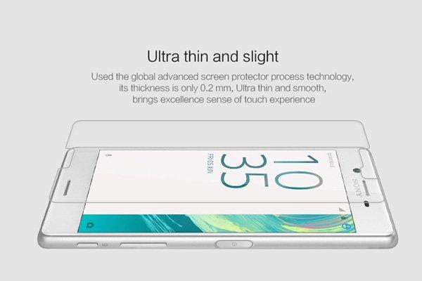 【ネコポス送料無料】Xperia X 強化ガラスフィルム ナノコーティング 硬度9H  [2]