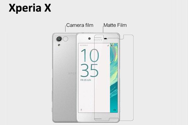 【ネコポス送料無料】Xperia X 液晶保護フィルムセット アンチグレアタイプ  [1]