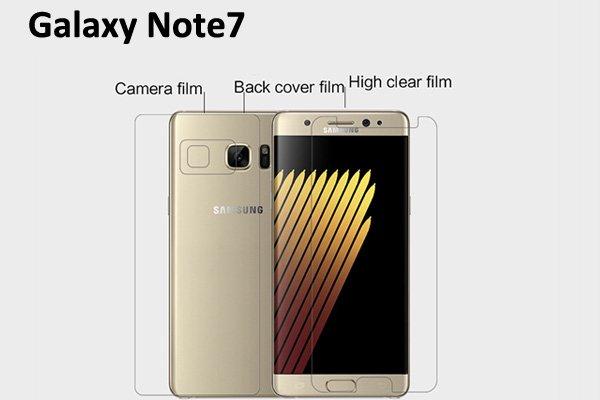 【ネコポス送料無料】Galaxy Note7 液晶保護フィルムセット クリスタルクリア  [1]