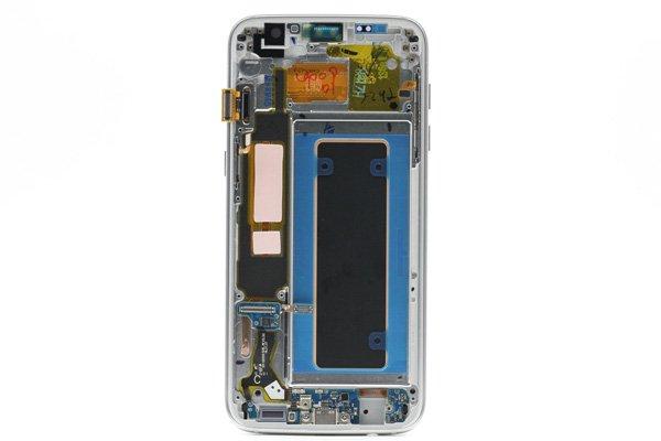 Galaxy S7 Edge (SM-G9350) フロントパネルASSY シルバー [2]