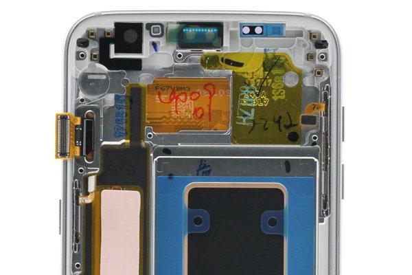 Galaxy S7 Edge (SM-G9350) フロントパネルASSY シルバー [3]