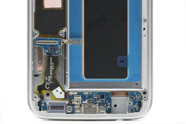 Galaxy S7 Edge (SM-G9350) フロントパネルASSY シルバー [4]