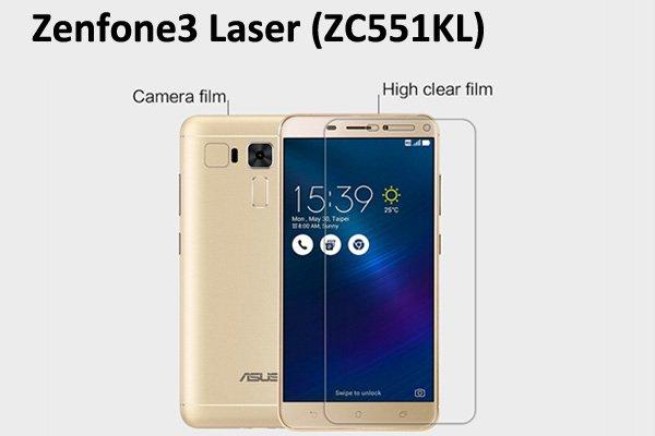 【ネコポス送料無料】Zenfone3 Laser (ZC551KL) 液晶保護フィルムセット クリスタルクリアタイプ [1]