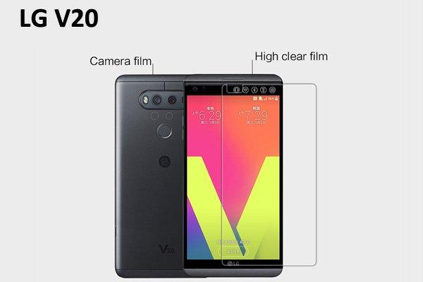 【ネコポス送料無料】LG V20 液晶保護フィルムセット クリスタルクリアタイプ  [1]