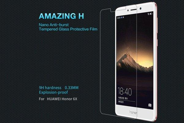 【ネコポス送料無料】Huawei Honor 6X 強化ガラスフィルム ナノコーティング 硬度9H  [1]