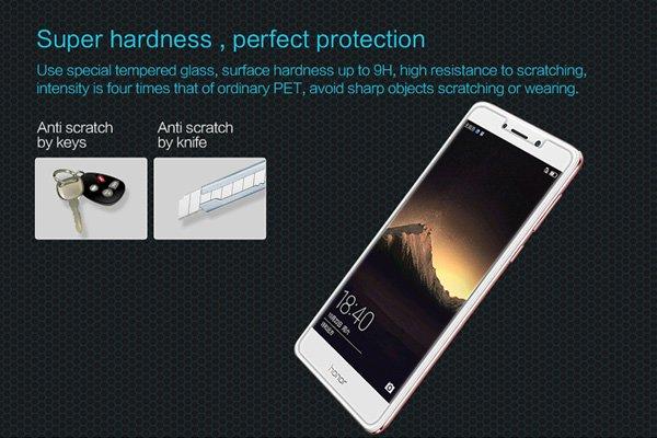 【ネコポス送料無料】Huawei Honor 6X 強化ガラスフィルム ナノコーティング 硬度9H  [2]