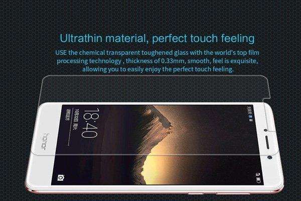 【ネコポス送料無料】Huawei Honor 6X 強化ガラスフィルム ナノコーティング 硬度9H  [3]