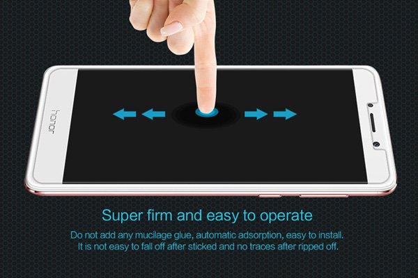 【ネコポス送料無料】Huawei Honor 6X 強化ガラスフィルム ナノコーティング 硬度9H  [5]