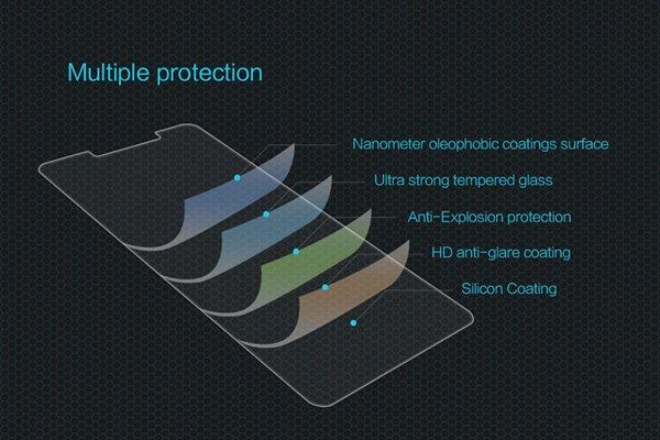 【ネコポス送料無料】Huawei Honor 6X 強化ガラスフィルム ナノコーティング 硬度9H  [6]