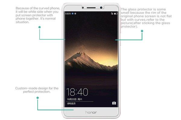 【ネコポス送料無料】Huawei Honor 6X 強化ガラスフィルム ナノコーティング 硬度9H  [7]