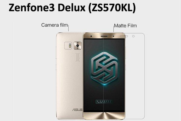 【ネコポス送料無料】Zenfone3 Deluxe (ZS570KL) 液晶保護フィルムセット アンチグレアタイプ [1]