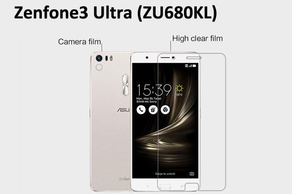 【ネコポス送料無料】Zenfone3 Ultra (ZU680KL) 液晶保護フィルムセット クリスタルクリアタイプ [1]